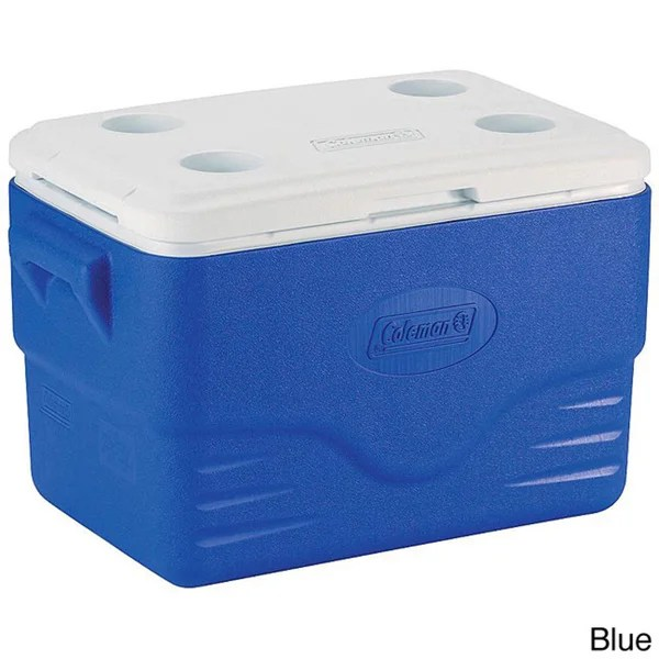 Shop Coleman 36 Quart Blue Cooler Free Shipping On