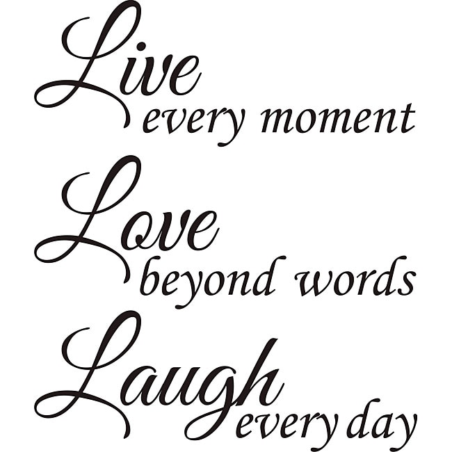 Download Design on Style 'Live Love Laugh' Vinyl Wall Art Quote ...