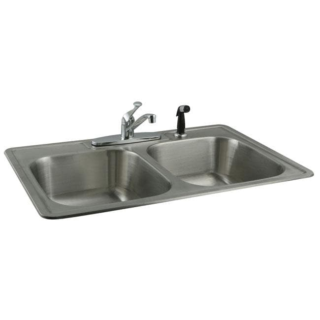 Shop Stainless Steel Topmount Double Bowl Kitchen Sink And