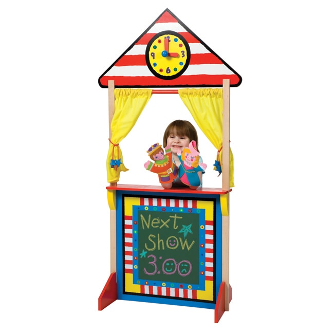 Shop Alex Toys Floor Standing Puppet Theatre With Clock Free Shipping Today Overstock 5400721