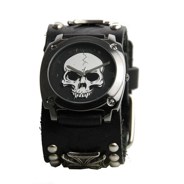 Shop Nemesis Mens Black Heavy Duty Skull Watch Free Shipping On Orders Over 45 Overstock