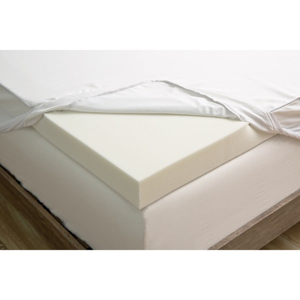 Grande Hotel Collection 3 Inch Memory Foam Mattress Topper With Egyptian Cotton Cover Free Shipping Today 13607592