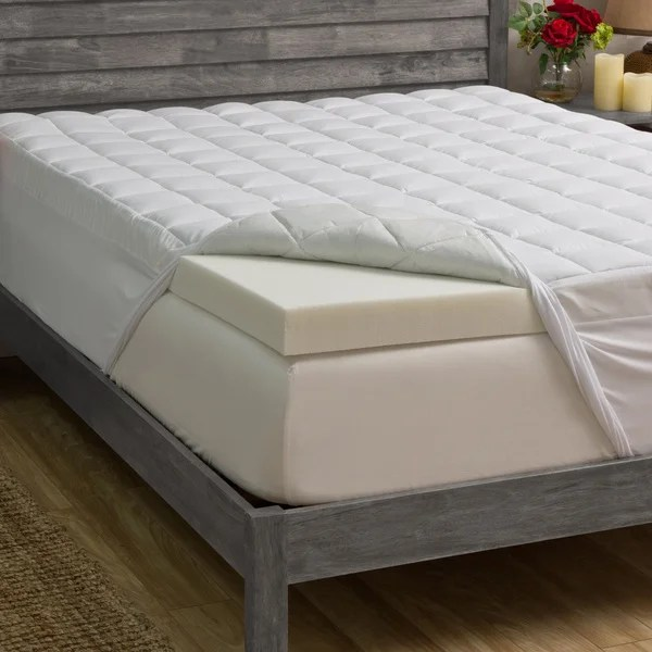 Grande Hotel Collection 3 Inch Memory Foam And 1 5 Fiber Mattress Topper