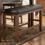 Shop Black Friday Deals On Tribecca Home Kai Oak Brown Casual 24 Inch Backless Counter Height Dining Bench Overstock 5943030