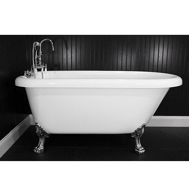 Shop Spa Collection 56 Inch Classic Style Clawfoot Tub And Faucet Pack Free Shipping Today