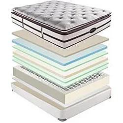 beautyrest elite scott plush super pillow top king size mattress set