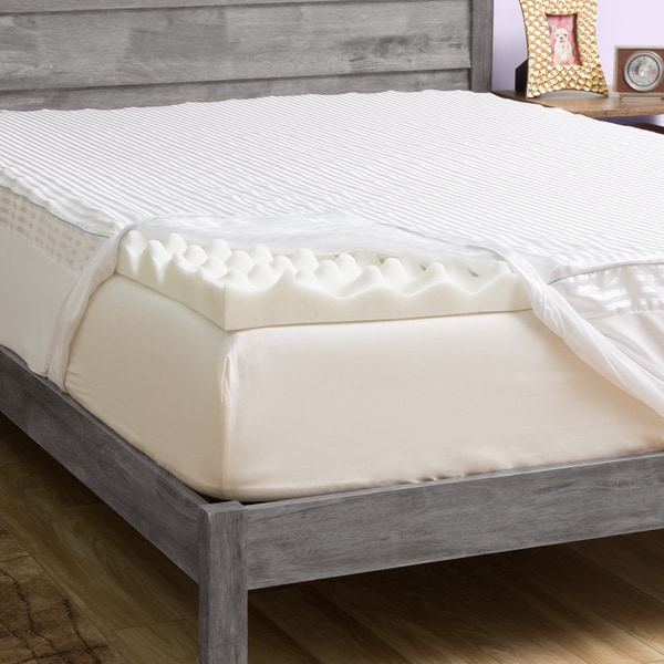 Grande Hotel Collection Comfort 3 Inch Memory Foam Mattress Topper With Cover Free Shipping Today 13846100