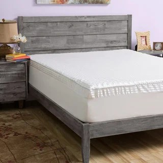 Slumber Solutions Comfort 3 Inch Memory Foam Mattress Topper With Cover