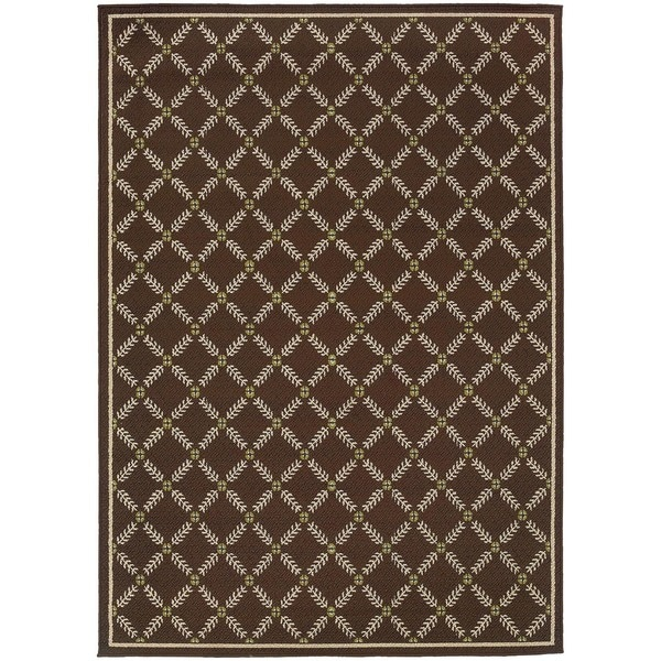 stylehaven lattice brown ivory indoor outdoor area rug 7 10x10 10 7 10 x 10 10 7 10 x 10 10