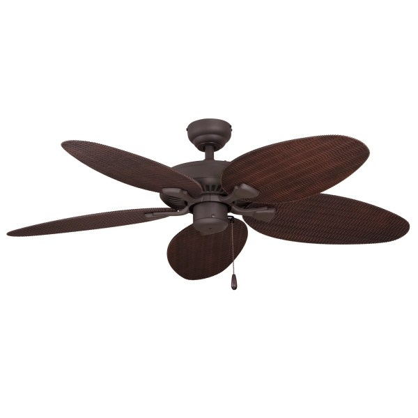 Buy Flush Mount Ceiling Fans Online at Overstock com   Our Best     EcoSure Siesta Key 52 inch Tropical Bronze Outdoor Ceiling Fan with Wicker  Blades and Remote