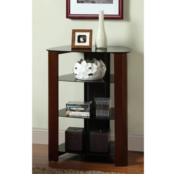35 Inch Espresso Audio Component Tower 13917774 Shopping Great Deals On