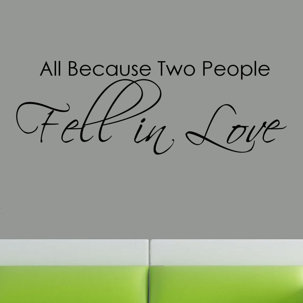 Download Shop Vinyl 'All Because Two People Fell in Love' Wall ...