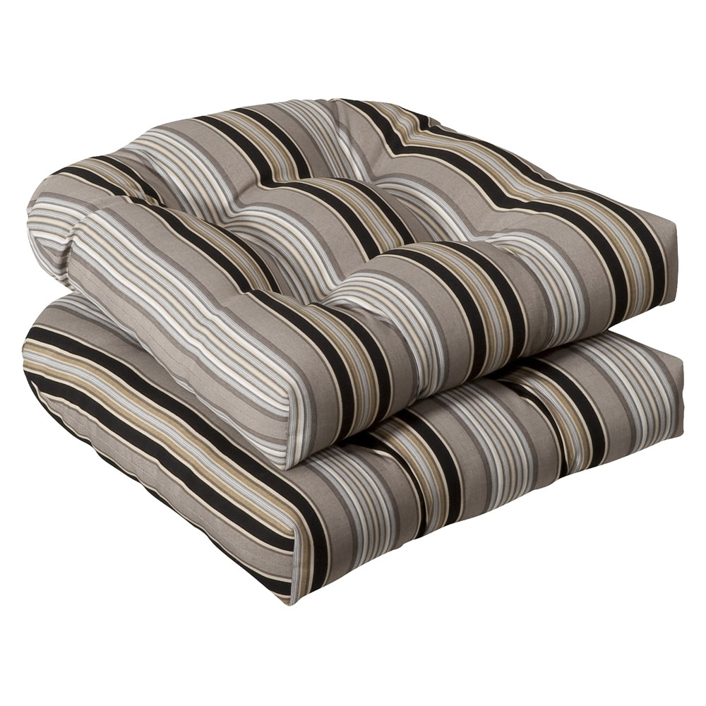 pillow outdoor black beige striped seat cushions on Black And White Striped Outdoor Seat Cushions id=60790