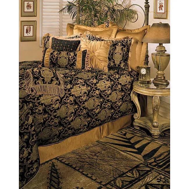 sherry kline china art black king size 6 piece comforter set