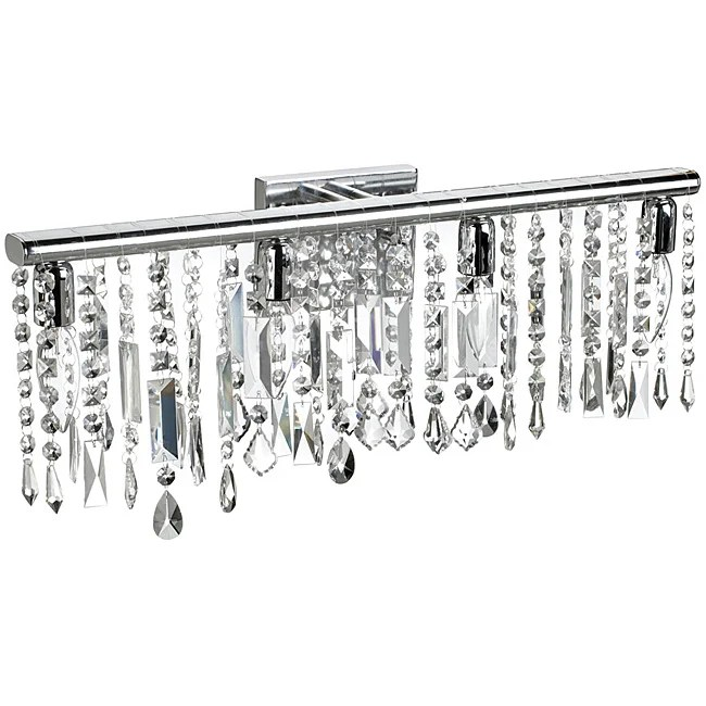 4 Light Chrome Crystal Wall Sconce Bathroom Vanity Fixture ... on Crystal Bathroom Sconces id=13304