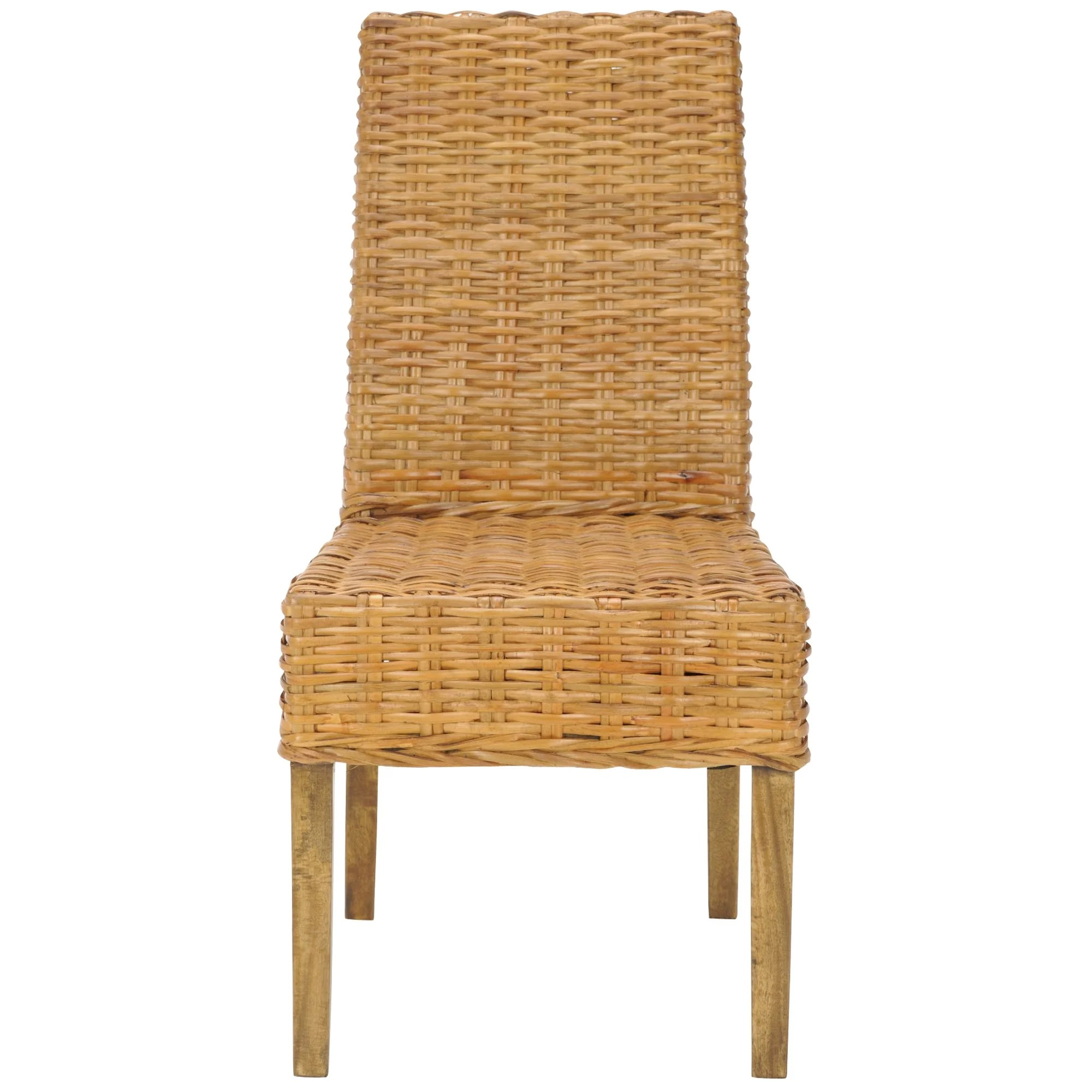 Safavieh Dining Rural Woven St Thomas Wicker Honey Dining Chairs Set Of 2