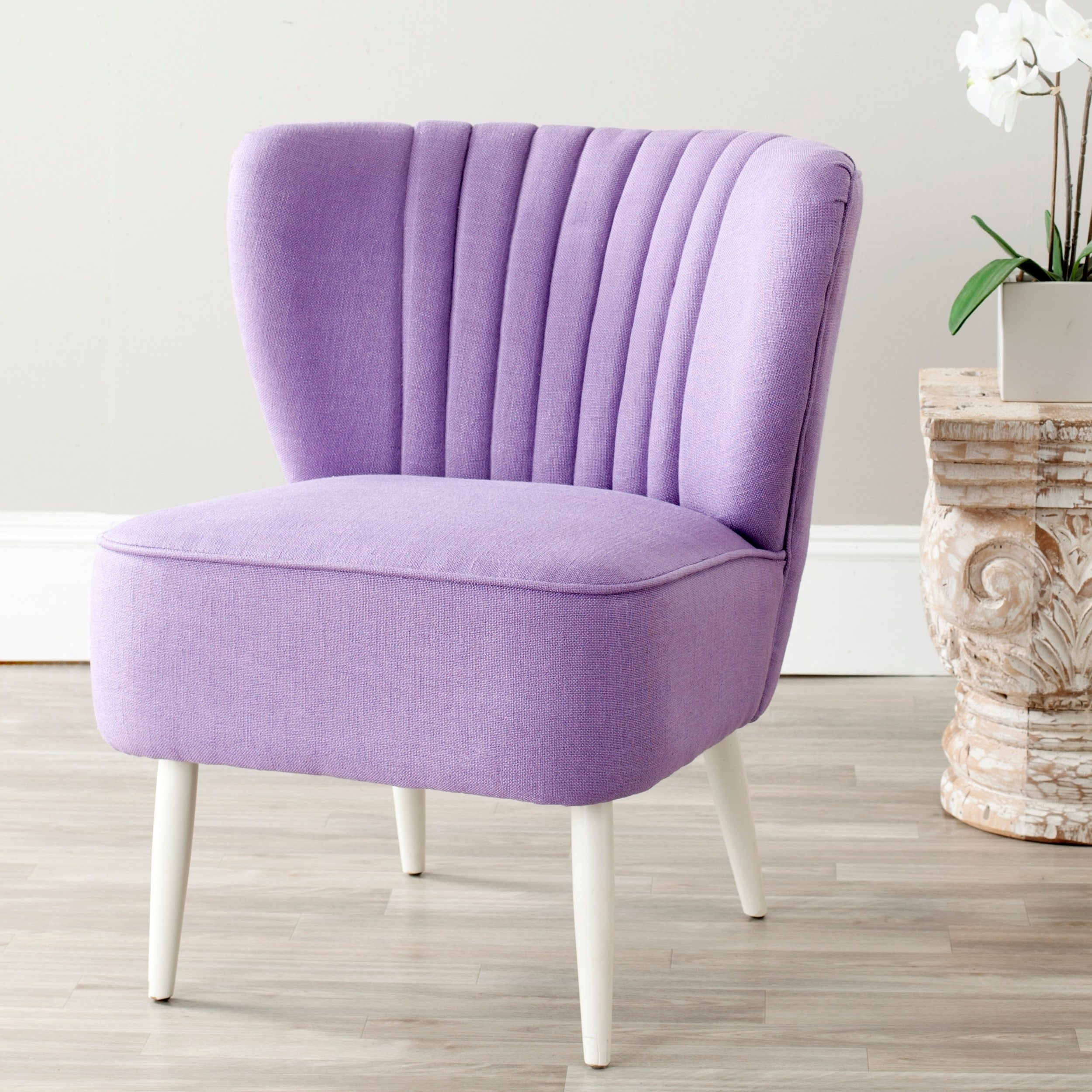 Safavieh Mid Century Purple Accent Chair 24 4 X 28 3 X 29 9 Overstock 6387522