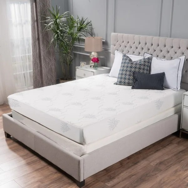 Aloe Gel Memory Foam 8 Inch Queen Size Smooth Top Mattress By Christopher Knight