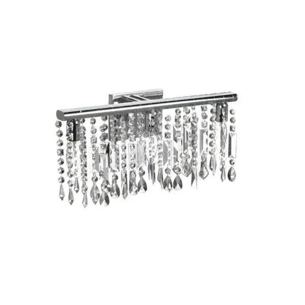 Shop Chrome Crystal 3-light Wall Sconce Bathroom Vanity ... on Crystal Bathroom Sconces id=21120