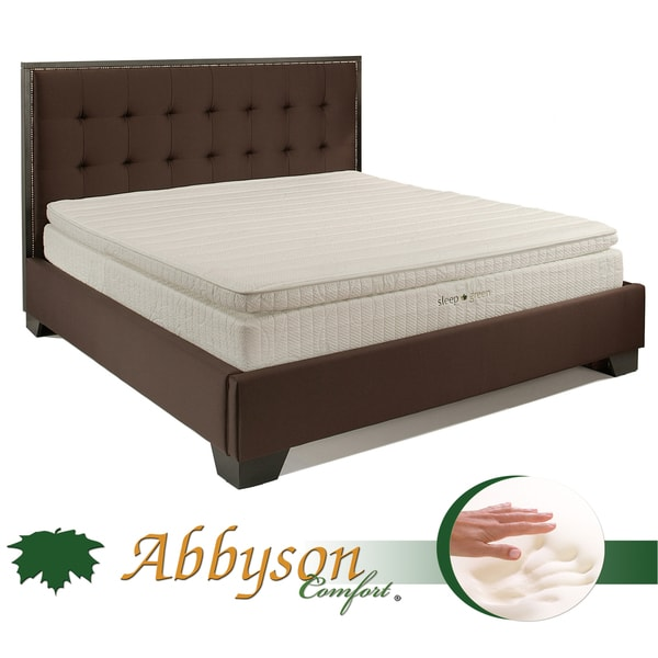 Abbyson Comfort Sleep Green 12 Inch King Size Pillowtop Memory Foam