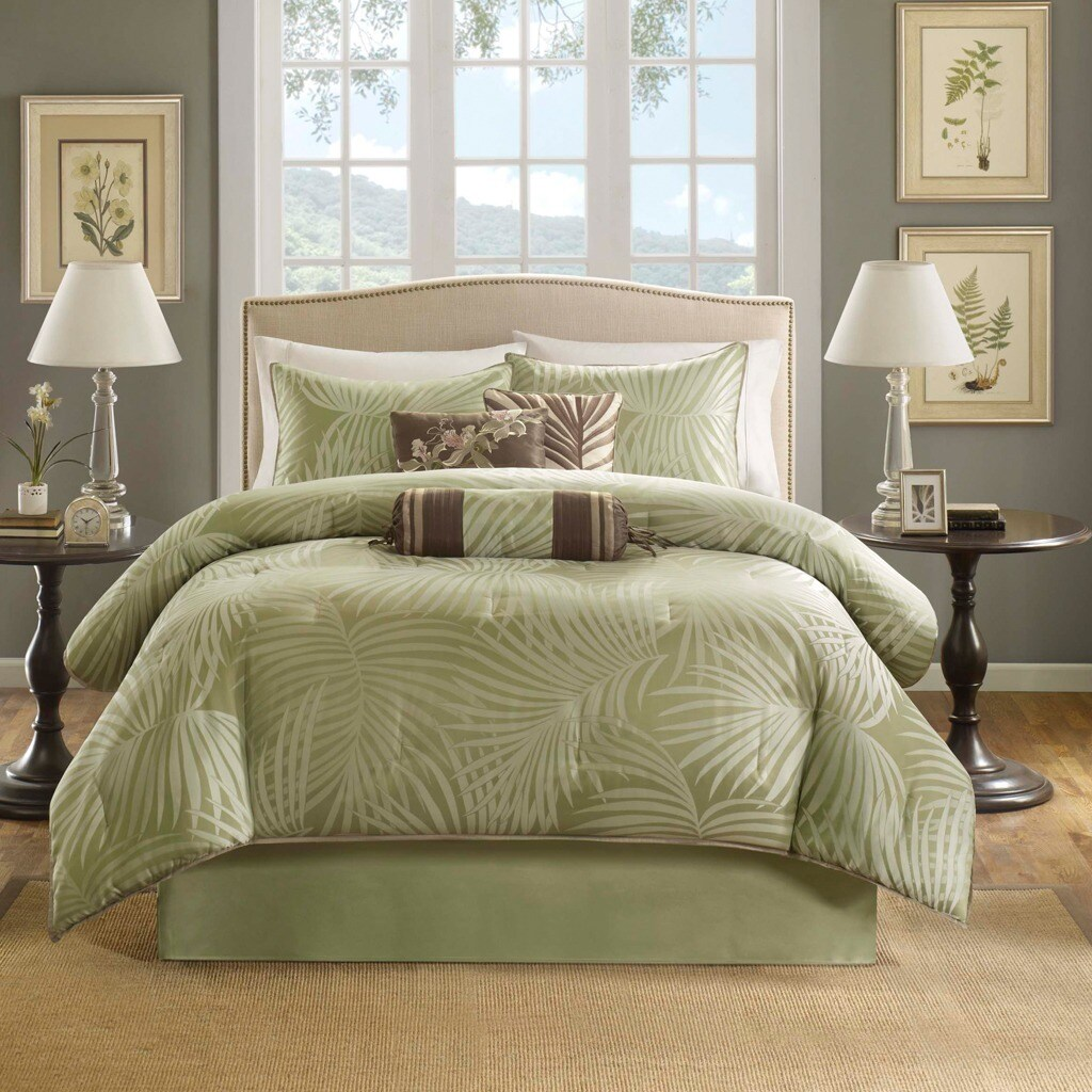 Shop Madison Park Bermuda Sage 7 Piece Comforter Set