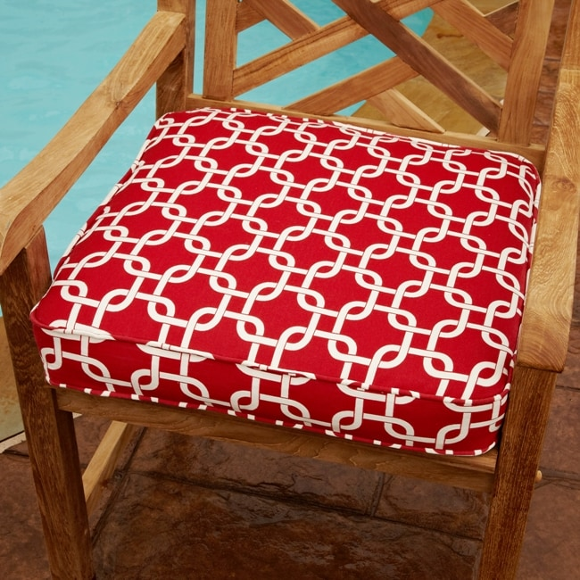 Shop Penelope Red 20 Inch Square Outdoor Chair Cushion