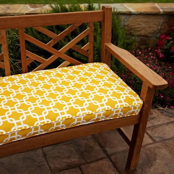 Shop Penelope Yellow 48 Inch Outdoor Bench Cushion Free