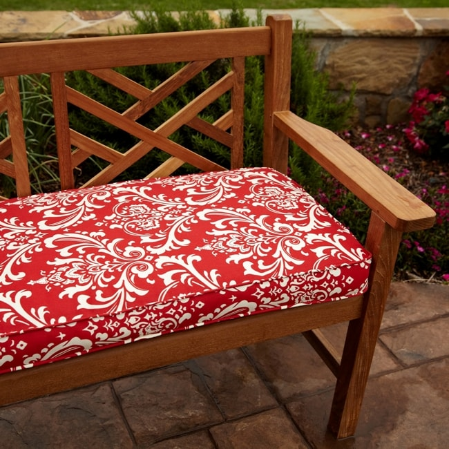 Shop Penelope Red 48 Inch Outdoor Bench Cushion Free