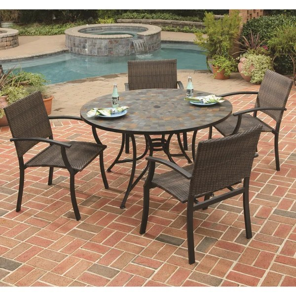 stone harbor table and newport arm chair 5 piece dining set by home styles