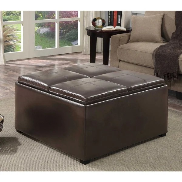 Leather Coffee Table Storage