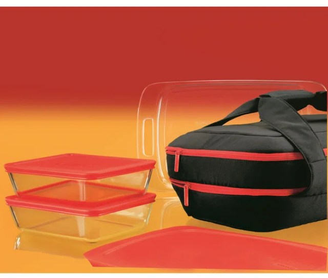 Pyrex Portable  Piece Double Decker Bakeware Set