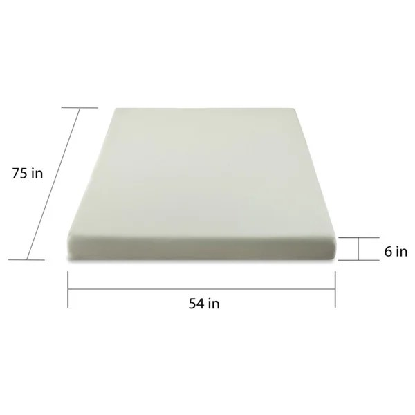 Priage Green Tea And Charcoal 6 Inch Full Size Memory Foam Mattress Free Shipping Today 14299016