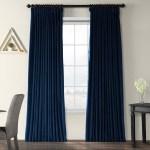 Exclusive Fabrics Midnight Blue Velvet Blackout Extra Wide Curtain Panel Overstock 6811700