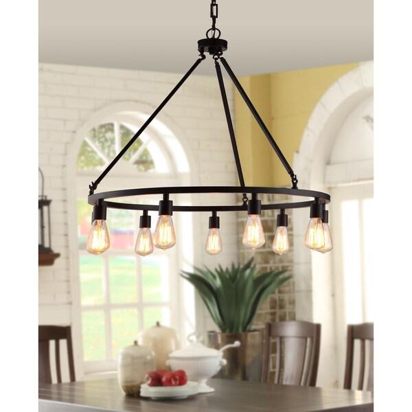 Shea Bronze Edison Bulb 9 Light Chandelier