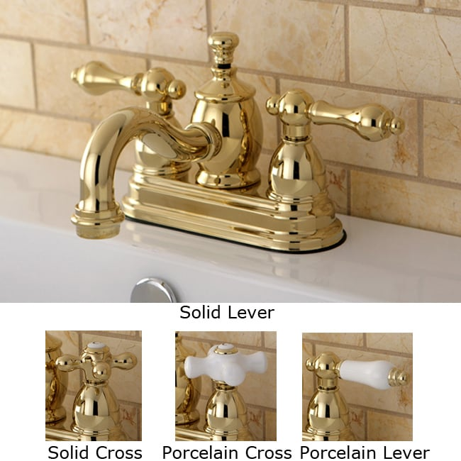 victorian spout polished brass bathroom faucet - free shipping