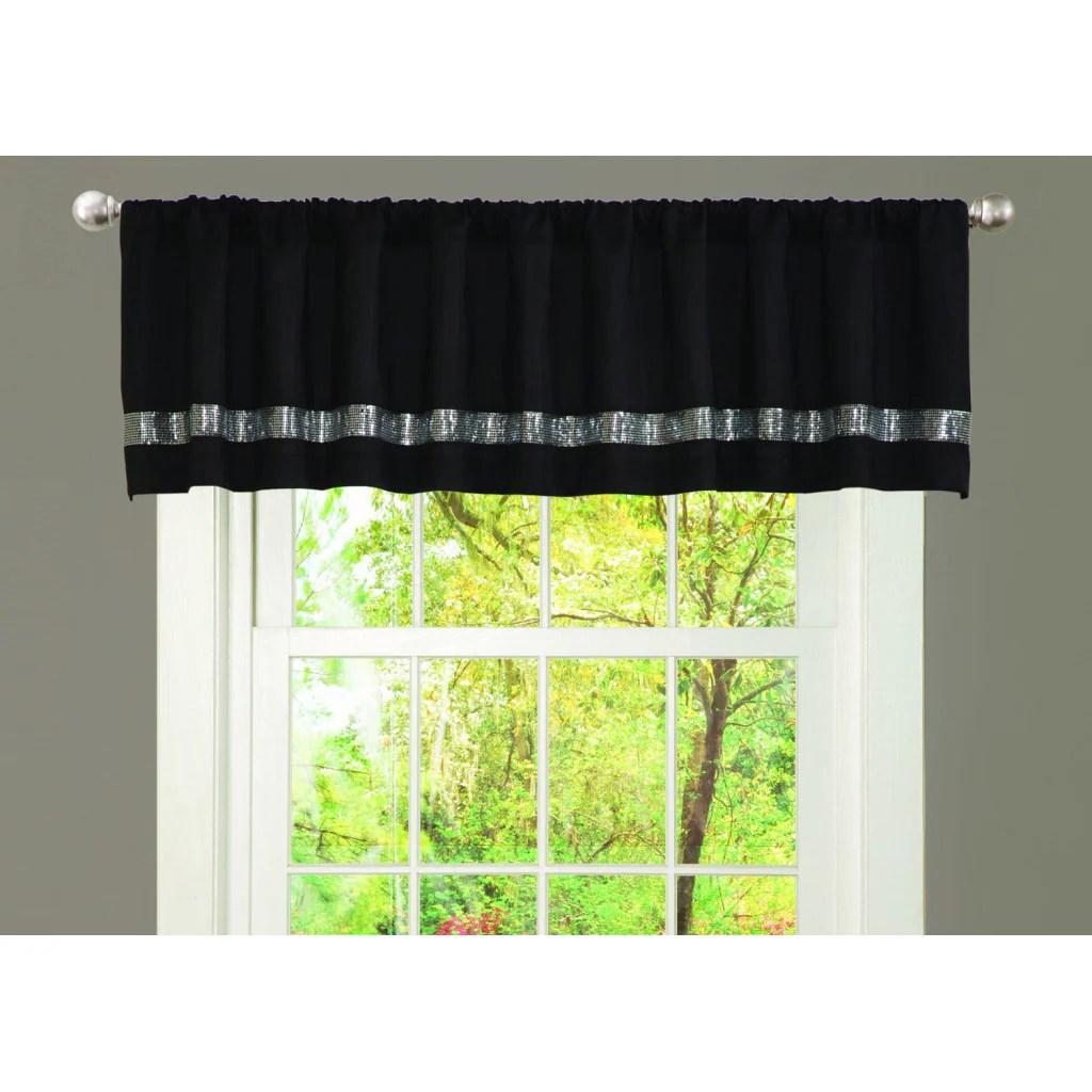 Shop Lush Decor Black Grey Faux Silk Night Sky Window