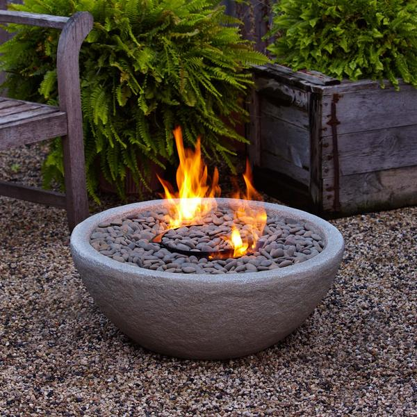 Shop Real Flame Hampton Fiber Concrete Firebowl Free Shipping Today Overstock 7255704