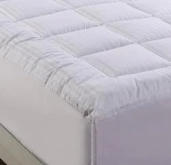 Damask Stripe Pillowtop 500 Thread Count Queen King California Size Mattress Pad