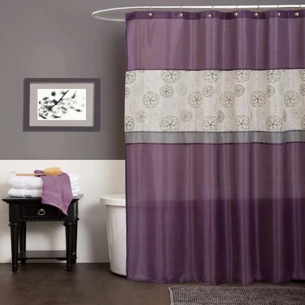 Shop Lush Decor Covina Purple Shower Curtain Free