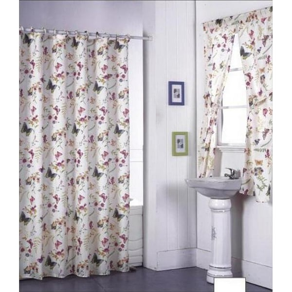 garden flowers shower curtain set and window set