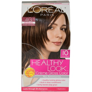 l oreal healthy look dark golden brown creme gloss hair color overstock shopping big