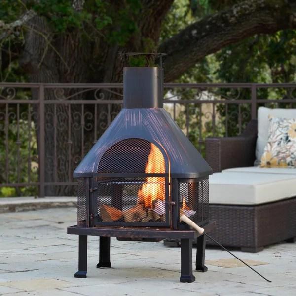 Shop Corvus Vintage Brushed Bronze Outdoor Fire Pit - Free ... on Quillen Steel Outdoor Fireplace  id=30752