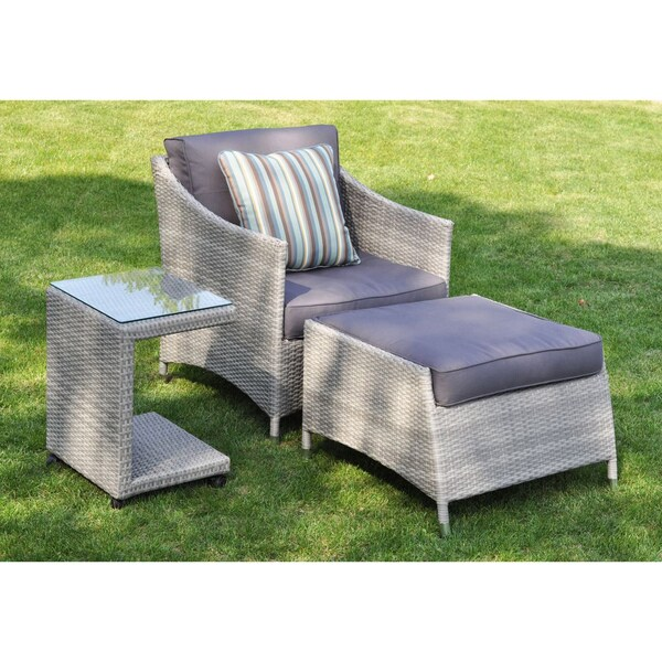 3 piece wicker patio furniture set Shop Mia 3-piece Rattan Wicker Outdoor Furniture Set