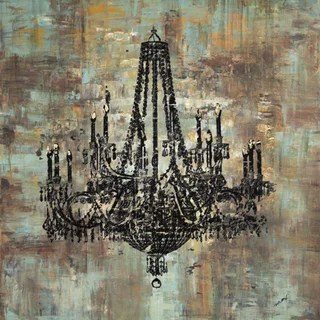 Shop Art In Style Black Chandelier Hand Painted Canvas Wall Art Free Shipping Today