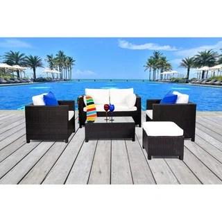 Outdoor Wicker Sofa Set Roma Contemporary Patio Furniture 15128162 Shopping