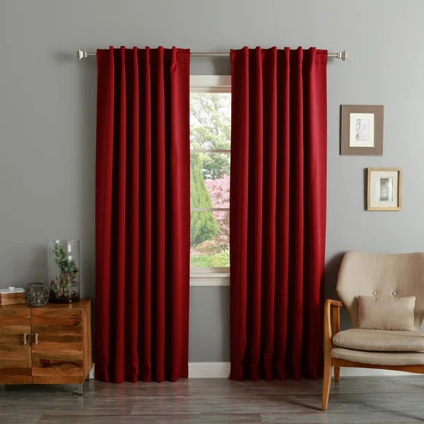buy burgundy curtains drapes online
