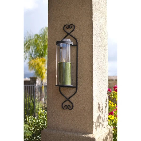 Iron/ Glass Cylinder Wall Sconce Candle Holder - Free ... on Wall Sconces Candle Holders id=12040