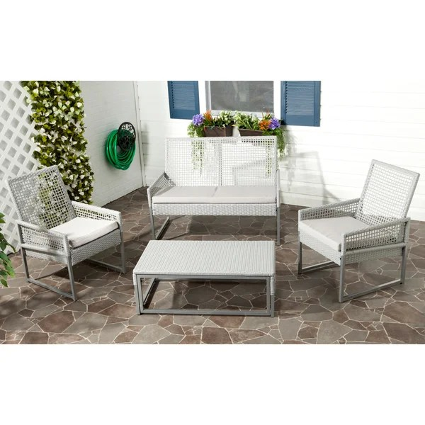 Shop Safavieh Outdoor Living Grey PE Mesh Back Wicker ... on Outdoor Living Wicker  id=63007