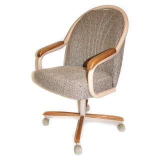 Casual Dining Cushion Swivel Tilt Rolling Caster Chair