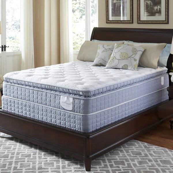 Serta Perfect Sleeper Luminous Super Pillow Top King Size Mattress Set